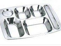 不銹鋼6格快餐盤