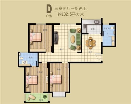 8号楼王·D户型