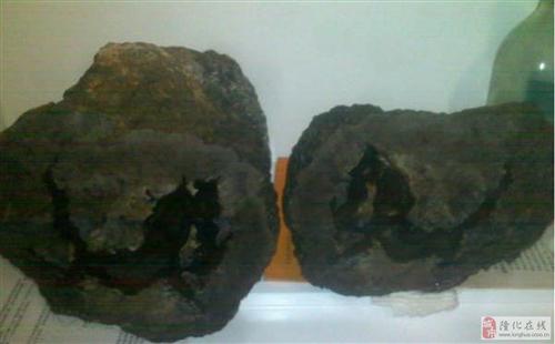 玛瑙石一对