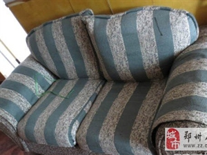 郑州七八成新双人布艺沙发130元转让