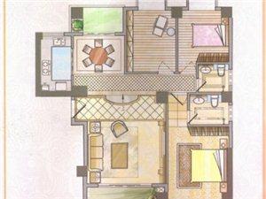 民兴北郡三房2厅绝版户型直入户
