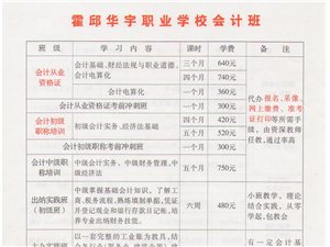 霍邱华宇职业学校会计班