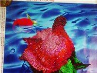 5D钻石画滴水玫瑰成品