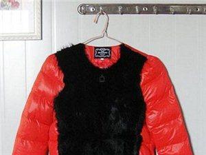 穿过一次的 欧洲站冬季韩版真兔毛拼接短款羽绒服