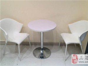 白色咖啡桌椅休闲桌椅小圆桌奶茶店桌椅冷饮店桌椅餐桌