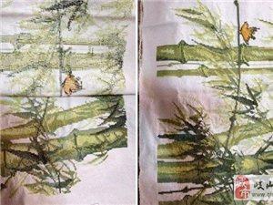 竹报平安十字绣成品-5000元
