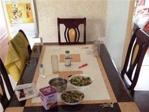 出售家用大理石桌子及6张配套椅子