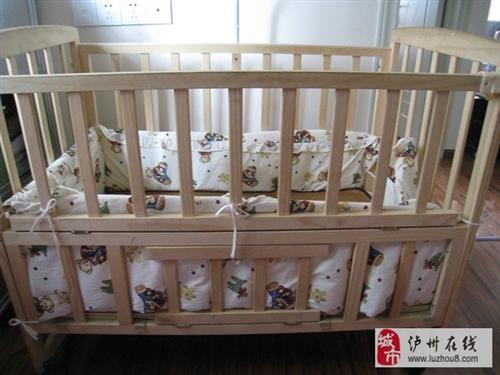 瀘州江陽區酒城大道轉實木嬰兒童床一張
