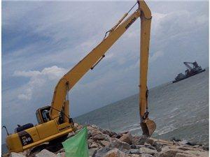 港口建設小松16米加長大小臂改裝廠家