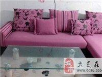 全新紫色沙發加茶幾