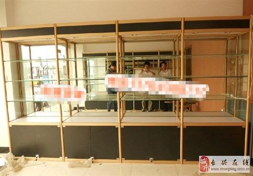 九五成新铝钛合金精品展示柜低价转让带LED灯