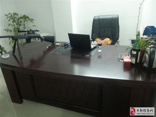 二手2米老板桌(大班台)9成新,黑色,大气600