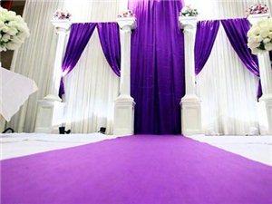 紫色经典婚礼布置