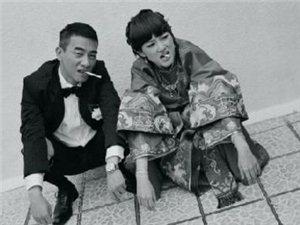 陈小春应采儿创意搞笑结婚照