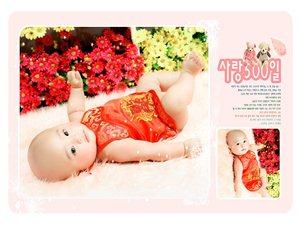 可爱宝宝与小美女照